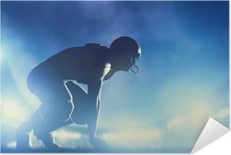 Póster Autoadhesivo Jugadores de fútbol americano de juego. luces del estadio