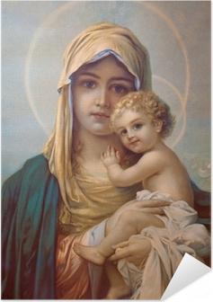 Póster Autoadhesivo Madonna - Madre de Dios