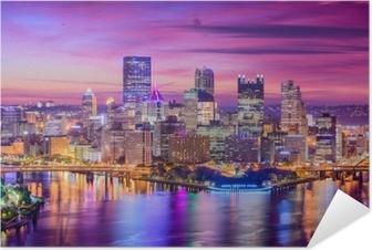 Póster Autoadhesivo Pittsburgh, pennsylvania, estados unidos