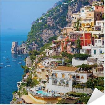 Póster Autoadhesivo Positano, Italia. Costa de Amalfi