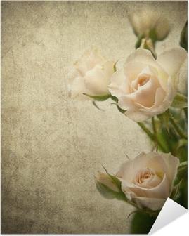 Póster Autoadhesivo Rose textura