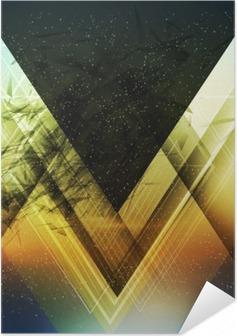 Póster Autoadhesivo Triángulo de abstracción de vectores de fondo futuro