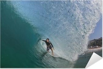 Póster Autoadhesivo Tube Ride Surf Onda grande