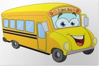 Autobus Scolaire De Dessin Animé