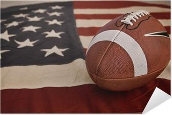 Poster autocollant American football