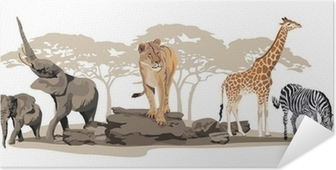 Poster autocollant Animaux africains