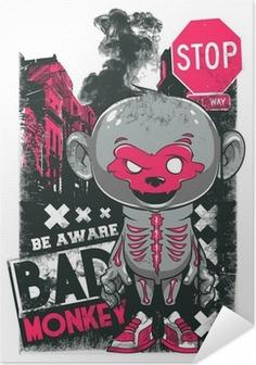 Poster autocollant Bad Monkey
