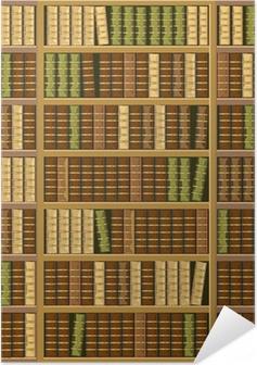 Poster autocollant Bibliothèque pleine de livres anciens