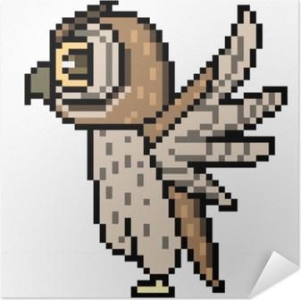 Chouette Pixel Art Vectoriel