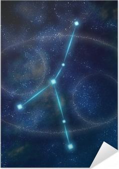 Poster autocollant Constellation et le symbole du cancer