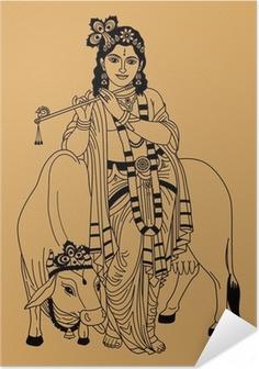 Poster autocollant Dieu indien