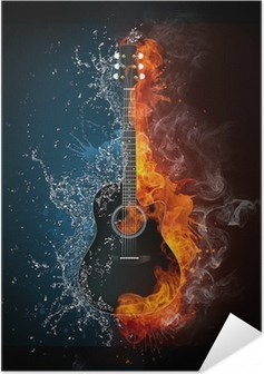 Poster autocollant Electric guitar