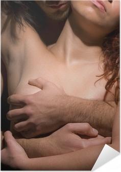 Poster autocollant Femme et l'homme la tentation