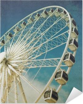 Poster Autocollant Ferris rétro de roue