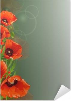 Poster autocollant Fond de pavot