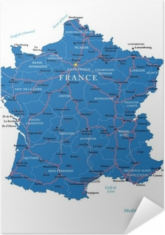 Poster autocollant France map