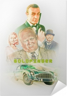 Poster autocollant Goldfinger
