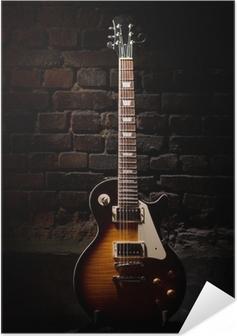 Poster autocollant Guitare électrique