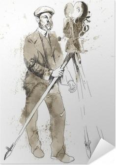 Poster autocollant L'histoire du film: L'homme derrière la caméra