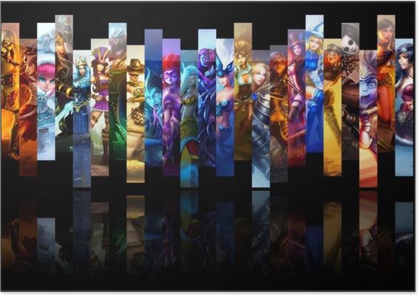 Poster autocollant League of Legends - Thèmes