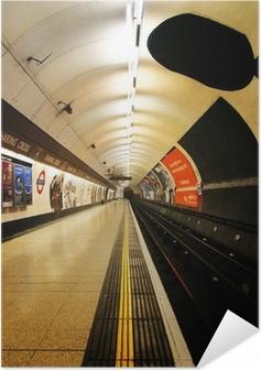 Poster autocollant Londres plate-forme de métro