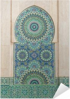 Poster autocollant Marocaine vintage background de carreaux