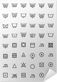Poster autocollant Mettre icone lavaggio e lavatrice