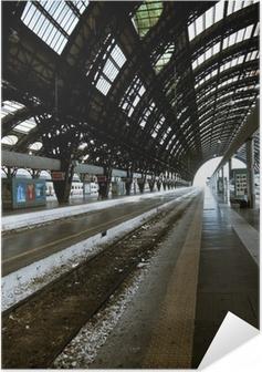 Poster autocollant Milan l'architecture de la station