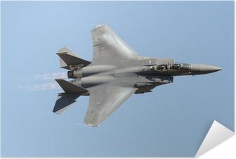 Poster autocollant Militaire avion de chasse