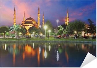 Poster autocollant Mosquée bleue à Istanbul, Turquie