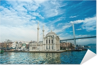 Poster autocollant Mosquée d'Ortaköy et Pont du Bosphore, Istanbul, Turquie ..