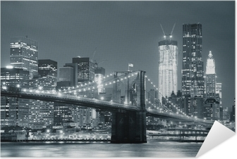 Poster Autocollant New york city brooklyn bridge