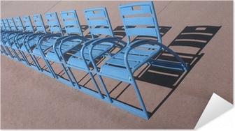 Poster autocollant Nice Promenade des Anglais, les chaises bleues