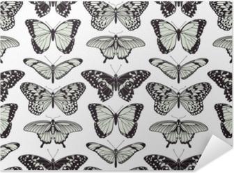 Poster autocollant Papillon sans soudure fond vintage