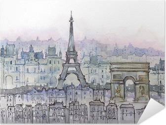 Poster autocollant Parisiens