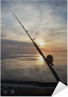 Poster autocollant Pêche au gros