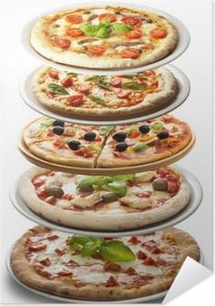 Poster autocollant Pizzas