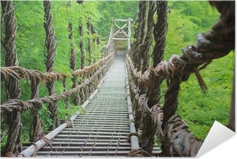 Poster autocollant Pont de lianes de l'été