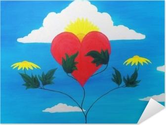 Poster autocollant Pouvoir de guérison de la nature cœur nourricier et récupérant avec ses pouvoirs.