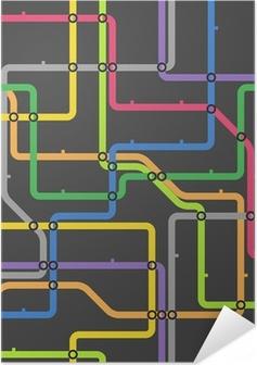 Poster autocollant Résumé schéma de couleur de métro