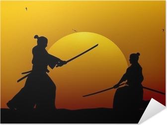 Poster autocollant Samourais