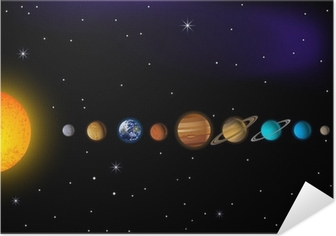 Poster autocollant Solar system