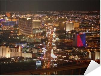 Poster autocollant Strip de Las Vegas la nuit