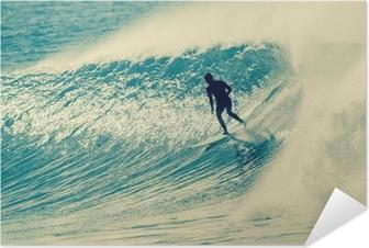 Poster autocollant Surf Surfer Riding Vague