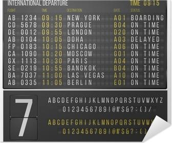 Poster autocollant Tableau aeroport