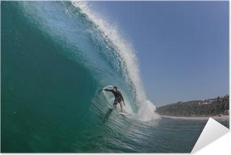 Poster autocollant Tube Surf Tour grande vague