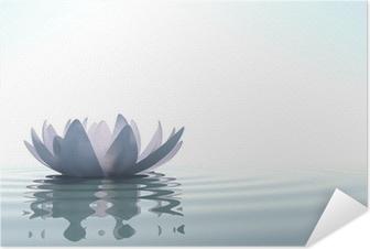 Poster autocollant Zen fleur loto dans l'eau