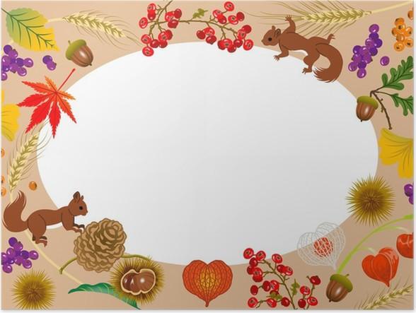 Autumn Frame,Horizontal Poster • Pixers® • We live to change