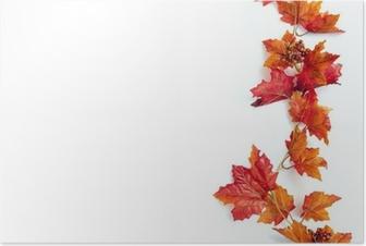 Autumn Thanksgiving Background Poster