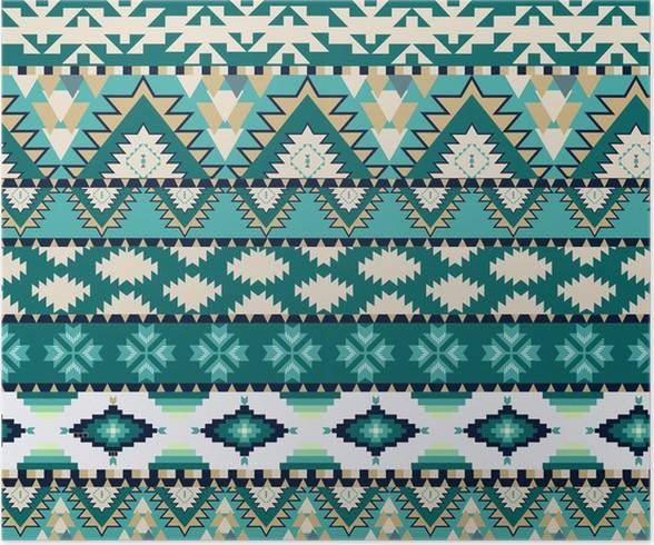 Poster Aztecs seamless sur couleur froide • Pixers® - Nous vivons ...